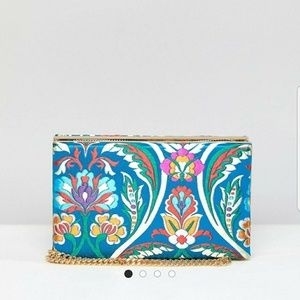 NWT Asos Clutch with Zipper